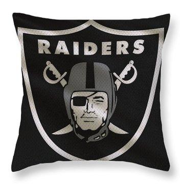 Oakland Raiders Uniform Throw Pillow