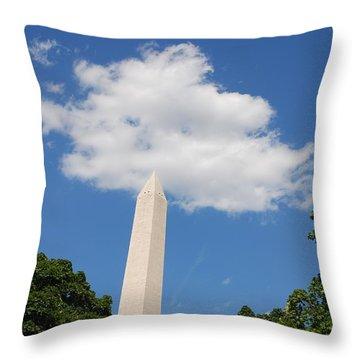 Obelisk Rises Into The Clouds Throw Pillow
