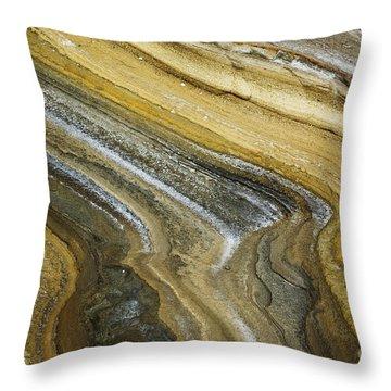 Ocean Cliff Textures Throw Pillow