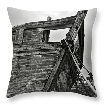 Old Abandoned Ship Throw Pillow by RicardMN Photography