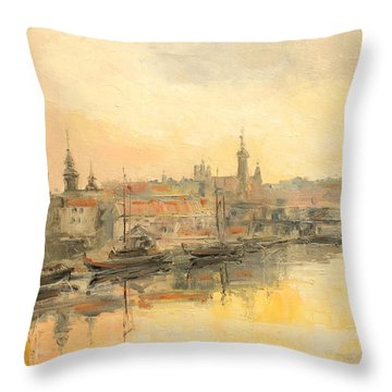 Old Warsaw - Wisla River Throw Pillow