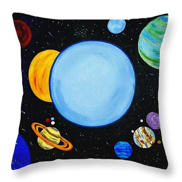 Once In A Blue Moon Throw Pillow by Donna Proctor