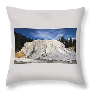 Orange Spring Mound Mammoth Hot Springs Yellowstone National Park Throw Pillow