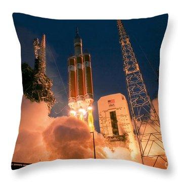 Delta Iv Photographs Throw Pillows