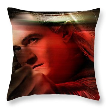 Orlando Bloom Throw Pillow by Marvin Blaine