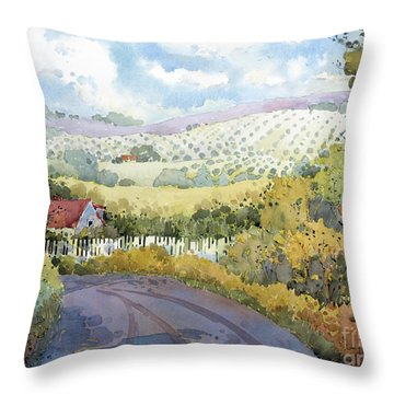 Out Santa Rosa Creek Road Throw Pillow