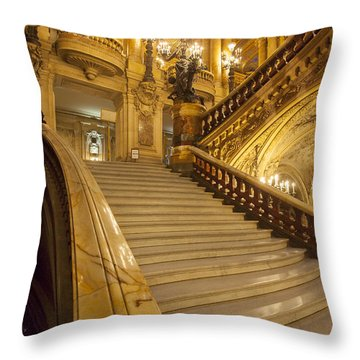 Palais Garnier Interior Throw Pillow by Brian Jannsen