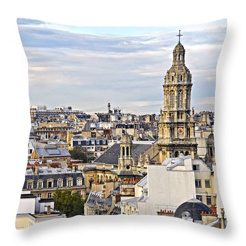 Paris Rooftops Throw Pillow by Elena Elisseeva