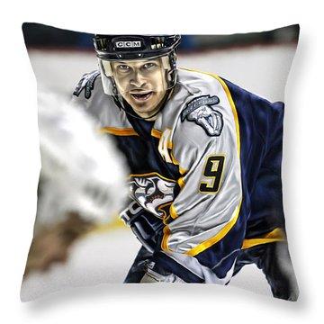 Throw Pillow featuring the digital art Paul Kariya by Don Olea