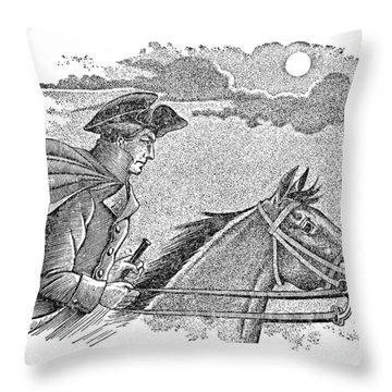Paul Reveres Ride Throw Pillow by Granger