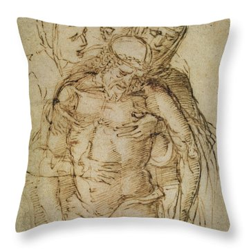 Pieta Throw Pillow by Italian School