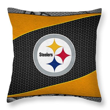 Pittsburgh Steelers Throw Pillow by Joe Hamilton