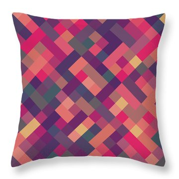 Pixel Art Throw Pillow by Mike Taylor