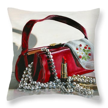 Pretty Woman Throw Pillow by Gail Chandler