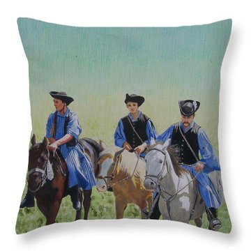 Puszta Cowboys Throw Pillow