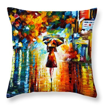 Rain Princess Throw Pillow