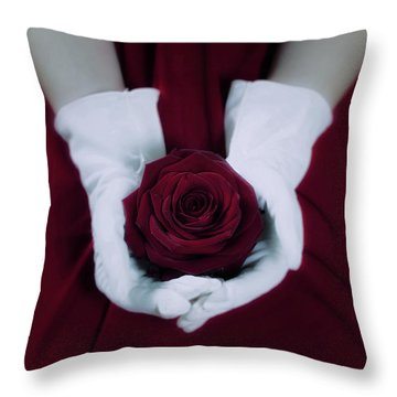 Red Rose Throw Pillow by Joana Kruse