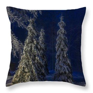 Rib Mountain State Park Snow Throw Pillow