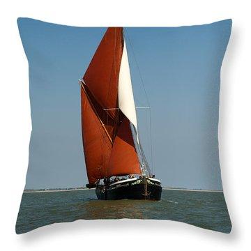 Sailing Barge Throw Pillow by Gary Eason