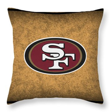 San Francisco 49ers Throw Pillow by Joe Hamilton