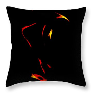 Sax In The Dark Throw Pillow