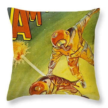Sci-fi Magazine Cover 1931 Throw Pillow by Granger