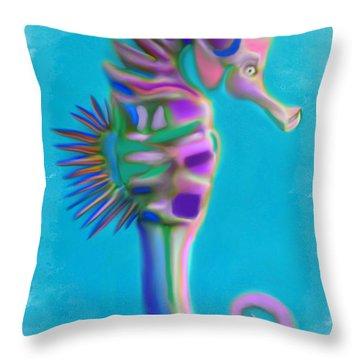 The Pretty Seahorse Throw Pillow