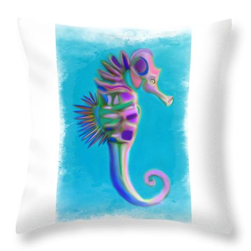 The Pretty Seahorse Throw Pillow