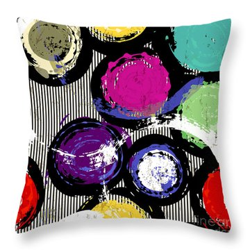 Brush Strokes Throw Pillows