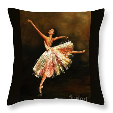Second Arabesque Throw Pillow by Nancy Bradley