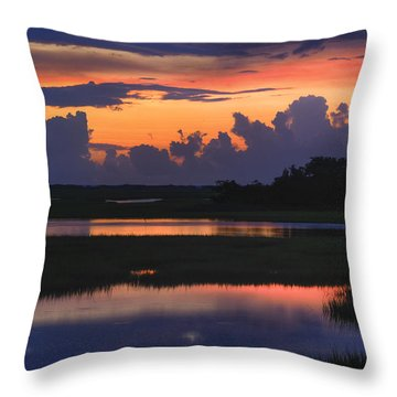 Throw Pillow featuring the photograph 3 Second Flash Sunrise Sunset Image Art by Jo Ann Tomaselli