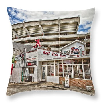 In The Shadow Of The Stadium - Hdr Throw Pillow