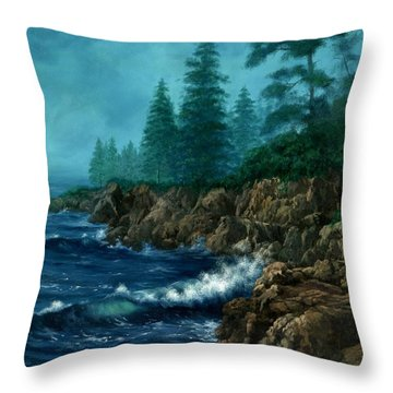 Throw Pillow featuring the painting Solitude by Lynne Wright