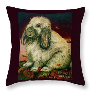Some Bunny Is A Honey Throw Pillow by Linda Simon