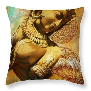 South Asian Art Throw Pillow