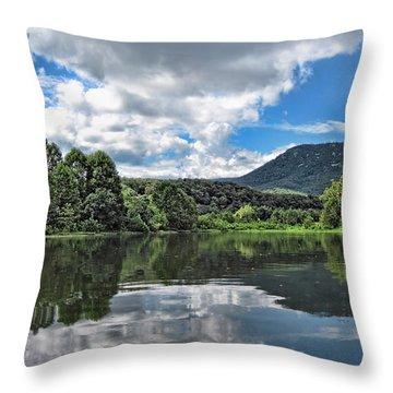 South Fork Shenandoah River Throw Pillow