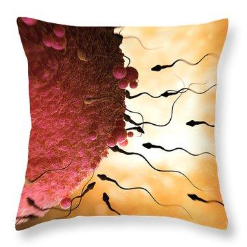 Sperm And Ovum Throw Pillow