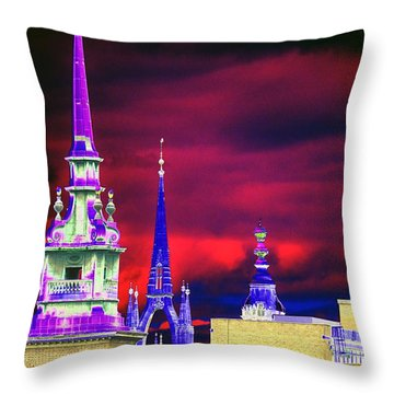 3 Spires  Throw Pillow