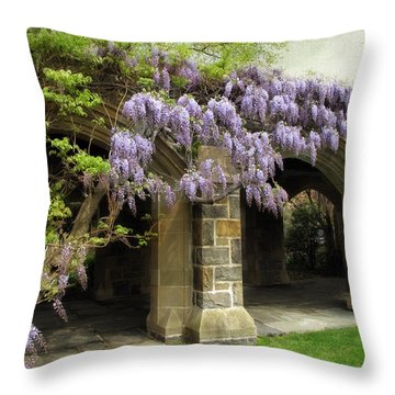 Spring Wisteria Throw Pillow