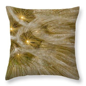 Spun Gold Throw Pillow by Betty Depee