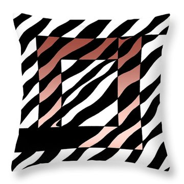 Throw Pillow featuring the drawing 3 Squares With Ripples by Joseph J Stevens