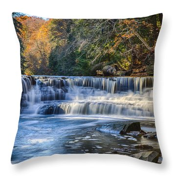 Squaw Rock - Chagrin River Falls Throw Pillow