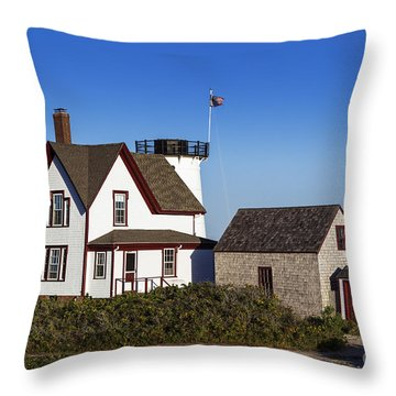 Stage Harbor Lighthouse Throw Pillow