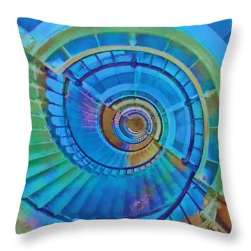 Stairway To Lighthouse Heaven Throw Pillow
