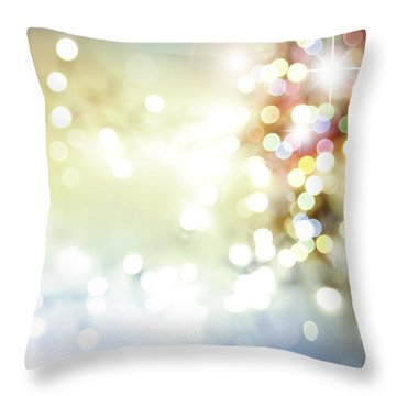 Starry Background Throw Pillow by Les Cunliffe