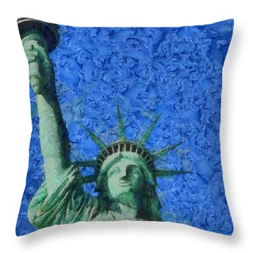 Statue Of Liberty Throw Pillow by Dan Sproul