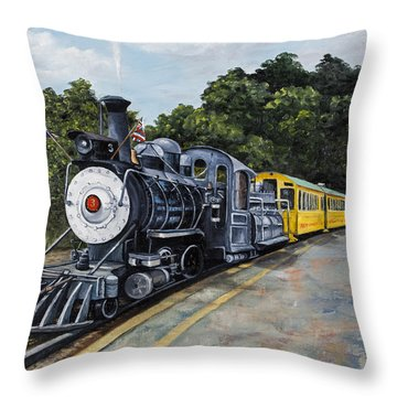 Sugar Cane Train Throw Pillow