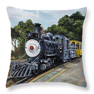 Sugar Cane Train Throw Pillow