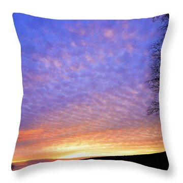 Sunrise Drama Throw Pillow by Thomas R Fletcher