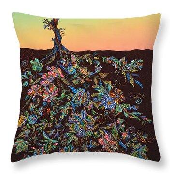 Sunset Throw Pillow by Erika Pochybova